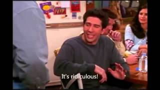 Friends - Joey's new brain [English subtitles]
