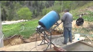 Homemade Cement Mixer By DR.ASİL BERK