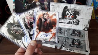 RAREST WWE AUTOGRAPH CARDS EVER?! Topps WWE Undisputed 2018 Hobby Box Break!!!