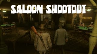 Red Dead Redemption ROLE PLAY:OUTLAWS: Saloon Shootout and Another Robbery