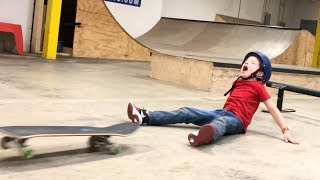 6 YEAR OLD SKATEBOARD SLAMS! (Again & Again!)