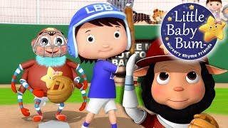 Take Me Out To The Ball Game | Nursery Rhymes | By LittleBabyBum!
