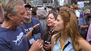 Kennedy Jr. Loses Cool at Climate Rally; Gets Handsy w/ PJTV