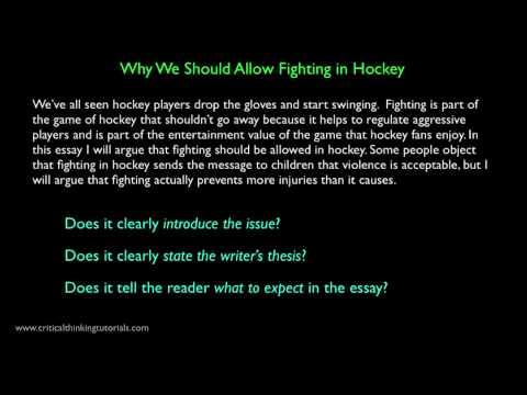 Argument essay database