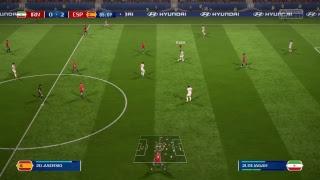 2018 World Cup Group B Iran (0 pts) vs. Spain (3 pts)