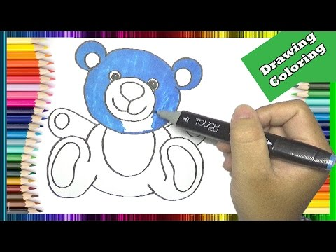 How to Draw and Color Teddy Bear in The Boss Baby  Movie | Coloring Pages for Kids