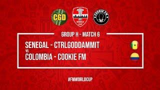 Senegal vs Colombia   CtrlGodDammit vs Cookie FM   #FMWorldCup