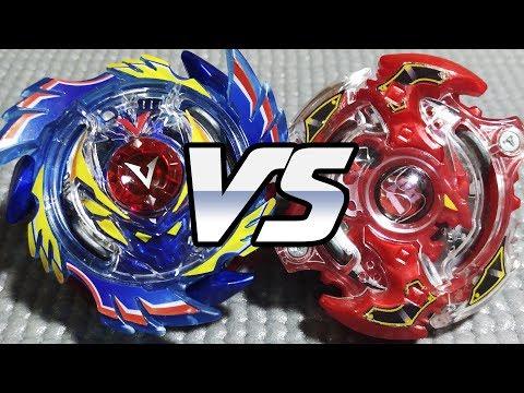 God Valkyrie .6V.Rb vs Storm Spriggan .K.U - [Beyblade Burst] - ベイブレードバースト