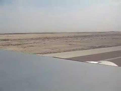 Etihad A330 202 take off from Abu Dhabi window view
