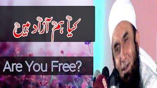 Kya Hum Azaad Ha?   Islamic Whatsapp Status   Molana Tariq Jameel