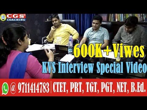 KVS Interview Special Video || KVS Mock Interview # 6 || CGS Coaching, Delhi.