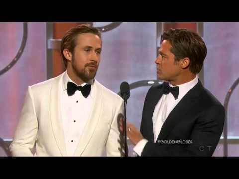 Ryan Gosling e Brad Pitt ai Golden Globe 2016 Traduzione nella descrizione