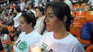 Emotivo homenaje de Atlético Nacional a Chapecoense en Medellín