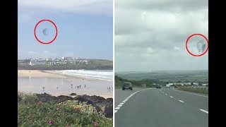 Shimmering Black UFO Spotted Multiple Times Over Cornwall - Project Blue Beam?