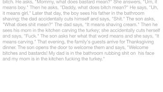 Jokes - On Thanksgiving day, a little boy overhears his mom and dad fighting. He hears his mom call