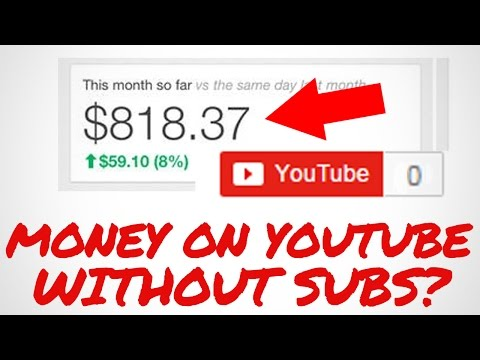How to Make MONEY on Youtube WITHOUT any Subscribers!