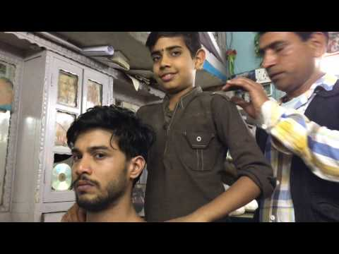 Young Indian Barber (Father teaching Son) Part-2| 4K