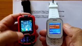 Kenxinda W1 Qwerty Keyboard Slider Smart Watch Phone: Unboxing and Review