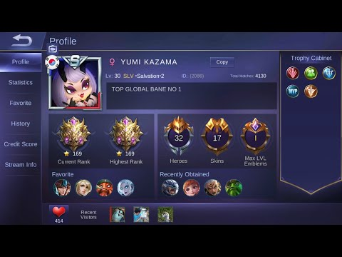 TOP 1 Global Bane by YUMI KAZAMA 100% GG