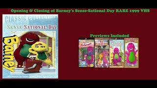 Barney's Sense-Sational Day Rare 1999 VHS Opening & Closing
