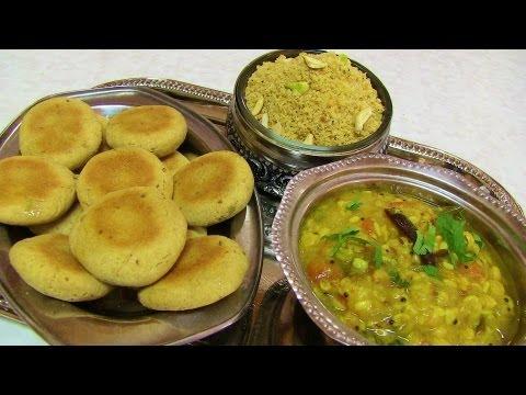 Dal Bati Churma Video Recipe- Rajashthani Cuisine Recipe by Bhavna