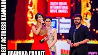 Micromax Siima 2015 | Best Actress Kannada | Radhika Pandit