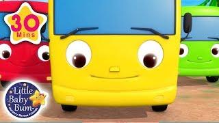 10 Little Buses | + More Nursery Rhymes & Kids Songs | Little Baby Bum