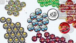 Agario Mobile Clan Rekting the Server   India Clan Domination   Agario.Mobile   thanks for 500