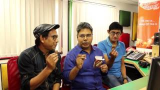 RJ MIR with Rudranil Ghosh And Kanchan Mallick at Mirchi Kolkata Studio