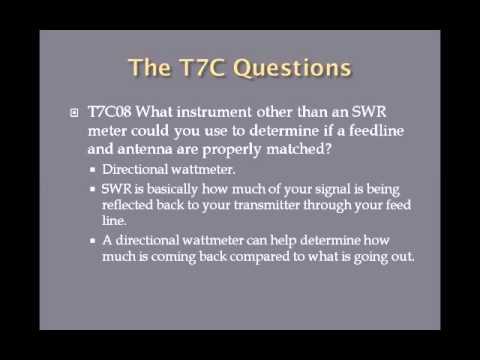 Lesson 25 Technician Class Exam T7C Second Edition