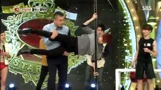 #틴탑 TEEN TOP Funny Chunji does Pole Dancing!!!