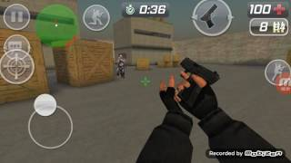 Stanley plays CS PORT shooting game on his Android phone and does commentary with zombies