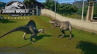 Jurassic World Evolution Game #21: Trận chiến lịch sử của spinosaurus và tyranosaurusrex