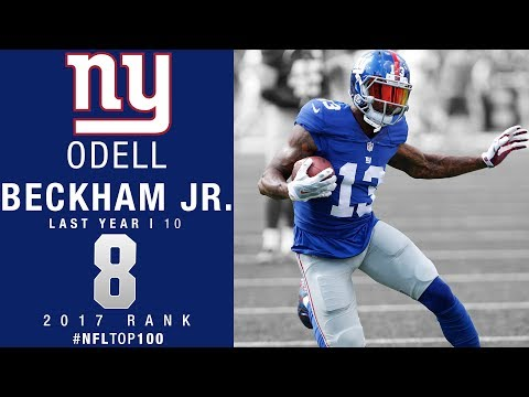 8 Odell Beckham Jr. WR Giants Top 100 Players of 2017 NFL