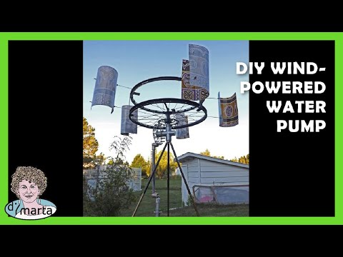 DIY Wind Powered Water Pump. Cata Vento com Bomba de Agua.