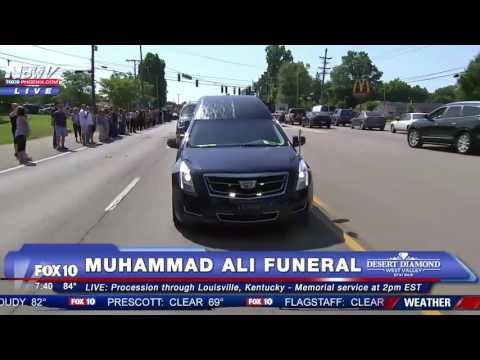 FULL Muhammad Ali Funeral Procession in Louisville Kentucky FNN