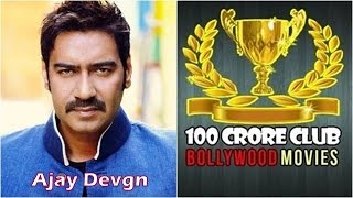 Ajay Devgn 100 Crore Club Bollywood Movies : List of Hindi Films with Box Office Collection of 1 CR