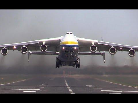Giant Antonov An 225 Mriya Takes off Just