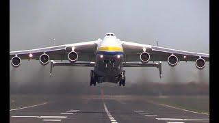 Giant Antonov An-225 Mriya Takes off Just!!!