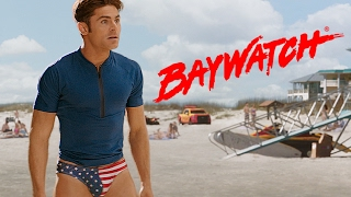Zach Efron Reveals American Flag Speedo: Super Bowl Baywatch Trailer