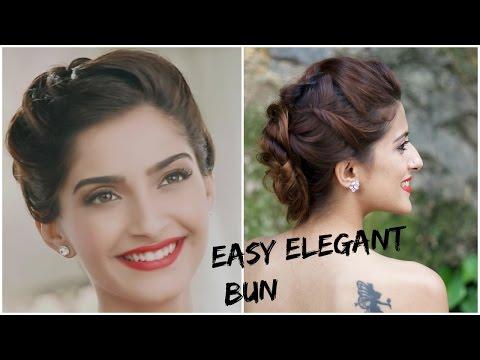 Xxx Mp4 Sonam Kapoor S GLAMOROUS Hairstyle 5 Minute Romantic Bun Hairstyle Indian Hairstyles For Medium Hair 3gp Sex