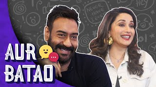 Smitten by Madhuri Dixit, Ajay Devgn ended up burning himself  || TOTAL DHAMAAL || AUR BATAO