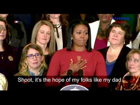 Michelle Obama Last Official Speech as First Lady