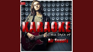Strong Strong Wind (In the Style of Air Supply) (Karaoke Version)