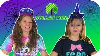 Halloween Dollar Tree Challenge || $10 Dollar Tree Challenge || Taylor and Vanessa