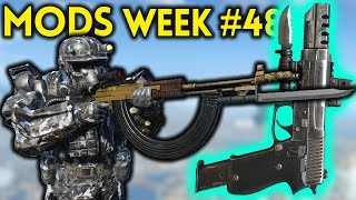 Fallout 4 TOP 5 MODS (PC & XBOX) Week #48 - SUPERSIZE ASSAULT RIFLE, CAMO MARINE ARMOR, TANK HOME