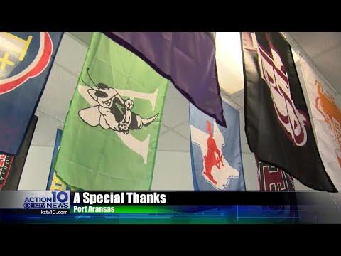 Xxx Mp4 Port Aransas School Hangs Other School Flags As Thank You 3gp Sex