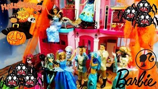 Impreza Halloween w Dreamhouse Barbie 👻 Straszna niespodzianka Sandry 👻 Bajka po polsku lalki