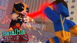 Minecraft : WOLVERINE vs CYCLOPS - BATALHA DE HERÓI ( X-Men Apocalypse)