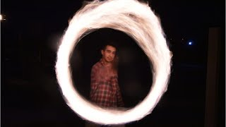 Video: Poi and Flow Art Fires up at Night in Vero Beach